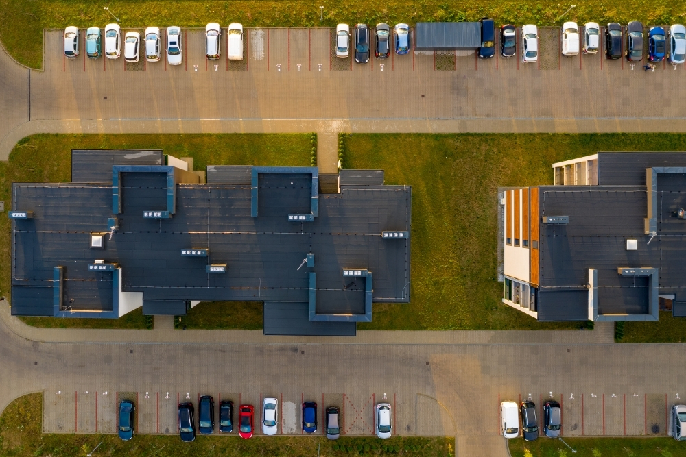 aerial view of multi-family units that could be used in a 1031 exchange